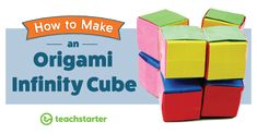 How to Make an Origami Infinity Cube, Origami Rose, Cube Origami, Origami Infinity Cube, Infinity Card, Origami Ball, Origami Flowers, Kids Origami, Dollar Bill Origami, Paper Crafts Origami
