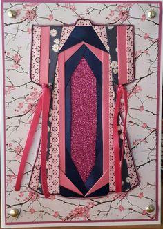 Iris folding kimono Card
