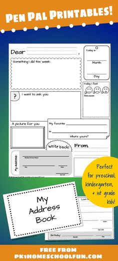 Download free pen pal printables that encourage kids to love writing with creative prompts.