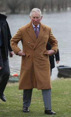 Prince Charles, Prince of Wales, arrives after riding a boat in the Kovilj-Petrovaradin marshes on March 17, 2016