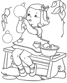 20 Vintage Coloring Book Images - Free to print!