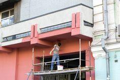 Painting building fotografií aobrázky, vektory avidea bez licenčních poplatků New York Skyline, Construction, Illustration, Outdoor Decor, House, Painting, Home Decor, Building, Homemade Home Decor