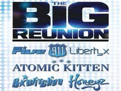 Due to the extraordinary fan response to ITV2's hit show 'The Big Reunion' and tickets for the hotly anticipated Hammersmith Apollo show selling out almost immediately, all six acts from the show will be hitting the road this May to wow audiences in arenas all over the UK & Ireland. Tickets for the Big Reunion Tour in Dublin & Belfast go on sale Thursday 21 February at 9am from all usual outlets.