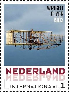 Stamp: Aviation pioneers: Wright Flyer 1903 (Netherlands - Personalized stamps) (Aviation pioneers) Col:NL 2015-065