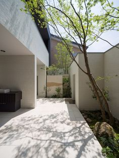 M4 House / Architect Show - Clean and simple side courtyard