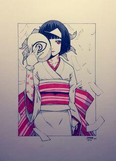 Nora from Noragami Nora Noragami, Noragami Anime, Manga Anime, Anime Art, Japanese Demon Mask, Yatori, Japanese Drawings, Cute Anime Character, Anime Sketch