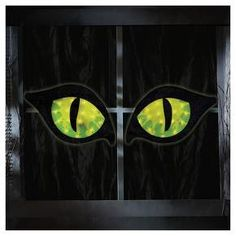 Keep the eerie ghosts and ghouls away with these Halloween Lighted Green Cat Eyes from Hyde and Eek! Boutique™. Display these light-up cat eyes in your window for a spooky Halloween decoration this year to tie in all your decor.