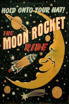 Sci-Fi Moon Saturn Comet Rocket Spaceship Astronaut Travel Space Vintage Poster Repro Free S/H in USA Poster S, Poster Wall, Poster Prints, Bedroom Wall Collage, Photo Wall Collage, Hippie Wallpaper, Culture Art, Room Posters, Space Posters