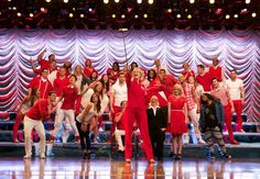 Pin for Later: Warning: Pictures of Glee's Series Finale May Make You Emotional  Sue snags a selfie stick to take a picture of the whole, epic cast.