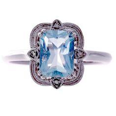 Aquamarine Rings, Vintage Inspired, Sapphire, Engagement Rings, Jewels, Inspiration, Beautiful, Fashion, Enagement Rings