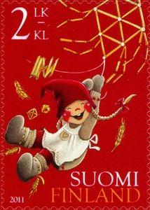 Joulupostimerkki 2011 2/3 - Vauhdikas joulu - Christmas stamp 2011 2/3 Finland.