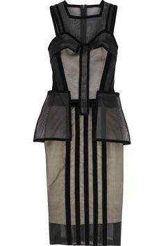 Christopher Kane  Mesh Stam silk dress-- woh thats intense!