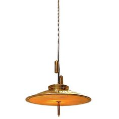 Paavo Tynell Pulley Light Fixture  Finland  1950's