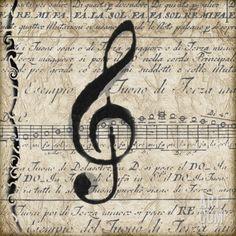 Musical II Print by Lisa Wolk at Art.com