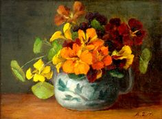 ❀ Blooming Brushwork ❀ - garden and still life flower paintings - Anna Eliza Hardy