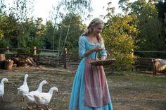 Cinderella 2015 Collecting Eggs Feeding Geese #Cinderella #Gallery #Review #LilyJames Via SamStormbornOrmandy.com
