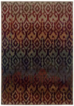 RUST, PURPLE TRANSITIONAL ADRIENNE RUG BY ORIENTAL WEAVERS ● 3809G | Rug Gallery at Concord Mills