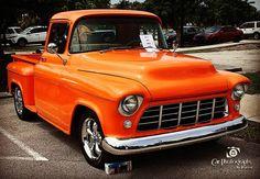 '55 Chevy Custom at #virginiakeycarshow #carphoto#55chevypickup #55chevycustom #chevy #55chevy #pickup #custom