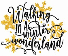 Walking in a winter wonderland machine embroidery design. Machine embroidery design. www.embroideres.com