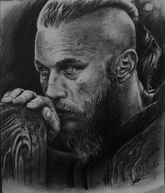 Ragnar Lothbrok tattoo design ideas for men inspired by the Vikings series Ragnar Lothbrok Vikings, Vikings Tv, Arte Viking, Viking Art, Viking Warrior Tattoos, Norwegian Vikings, King Ragnar, Viking Series, Norse Tattoo