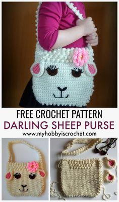 Crochet Free Pattern Purse Little Girls 61 Ideas For 2019 Crochet Pattern Free, Crochet Gratis, Sewing Patterns Free, Free Sewing, Free Knitting, Crochet Patterns, Crochet Ideas, Blanket Patterns, Hat Patterns