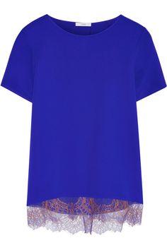 TOME|Split-back silk crepe de chine top|NET-A-PORTER.COM
