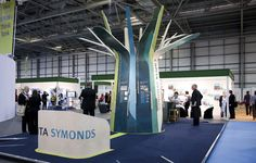 Think Capita Symonds stand Exhibition Booth Design, Exhibition Space, Exhibition Stands, Exhibit Design, Stand Design, Set Design, Stand Feria, 3d Tree, Acv