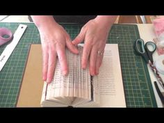 In this book art tutorial, I'm going to teach you one of the basic folds in creating a book sculpture -- the triangle fold -- and how this simple fold can ea...