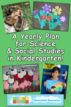A FREE yearly plan for science and social studies for Kindergarten Preschool Social Studies, Kindergarten Science Activities, Social Studies Curriculum, Social Studies Notebook, Kindergarten Lesson Plans, Science Curriculum, Homeschool Kindergarten, Science Lessons, Homeschooling