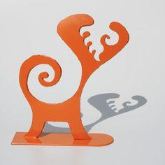 Fire Imp Sculpture, Orange No. 42