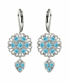Lucia Costin Silver, Light Blue Swarovski Crystal Earrings with Charms Lucia Costin, To SEE or BUY just CLICK on AMAZON right here http://www.amazon.com/dp/B009XDMVFM/ref=cm_sw_r_pi_dp_Jcfxtb179E2VRNKJ