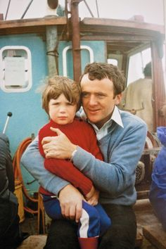 """Cillian with his father Brendan Murphy circa 1979.""""When I was three or four years old, my dad took me out to the Blasket Islands for the first time. It's the most westerly part of Europe and to get there you have to drive a long way, then you have to get on a boat. But the amount of literature that has come from this tiny little island, this little dot on the coast of Europe, is quite extraordinary. It's a very spiritual place. When I go there it recharges me, so I'm very thankful to my dad…"""