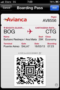 Mobile check-in. Pasabordo movil o celular Avianca. #travel #turisTIC