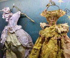 Paper Shoes, Paper Clothes, Paper Dresses, Fairy Clothes, Doll Clothes, Gothic Steampunk, Steampunk Clothing, Victorian Gothic, Steampunk Fashion