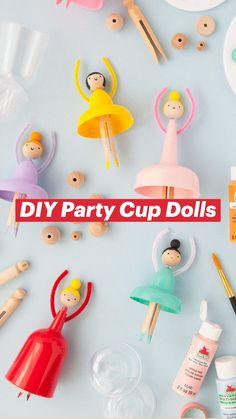 Fun Crafts For Kids, Craft Activities For Kids, Summer Crafts, Cute Crafts, Preschool Crafts, Diy For Kids, Diy Crafts Videos, Diy Crafts To Sell, Diy Party Cups