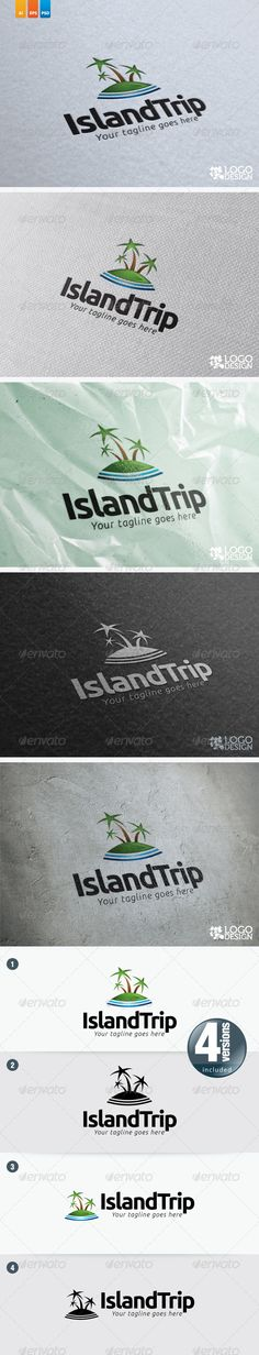 IslandTrip  #GraphicRiver         This logo ideal used for tour agency or any…