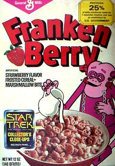 1979 Franken Berry Box, my favourite cereal in the 70's.