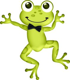 Frog with bow tie