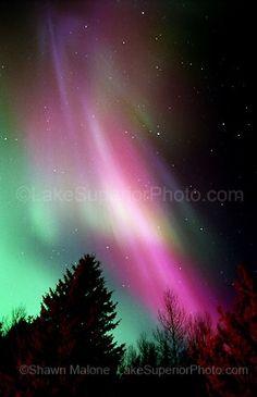 Northern Lights Upper Michigan - Lake Superior