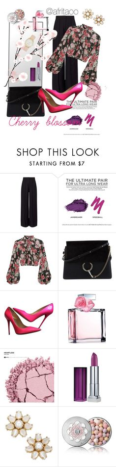 """""""Sin título # 20"""" by afritaoo ❤ liked on Polyvore featuring Miss Selfridge, Urban Decay, Jill Stuart, Chloé, Jimmy Choo, Ralph Lauren, Maybelline, Kate Spade, Guerlain and Nine West"""