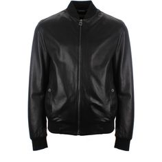 Versace Collection Leather Bomber Jacket ($955) ❤ liked on Polyvore featuring men's fashion, men's clothing, men's outerwear, men's jackets, jackets, men, mens outerwear, mens flight jacket, mens zip up jacket and mens leather jacket