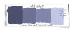 "Annie Sloan ""Old Violet"" Colorways: Color Swatches"