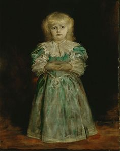 Franz von Lenbach (German, 1836-1904). Marion Lenbach, ca. 1895. Oil on canvas. 393/8 x 293/4 in. Charles and Emma Frye Collection, 1952.098