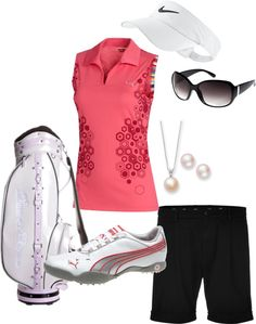 Golf Fun in Pink!, created by aflick87 on Polyvore