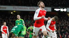 @TheArsenal Giroud scores at both ends as Gunners win. The striker turned in Yann M'Vila's free-kick to cancel out Joel Campbell's opener but atoned for his error in the second half before Aaron Ramsey added a third in injury time #9ine