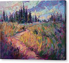 Northern Firs Canvas Print by Erin Hanson