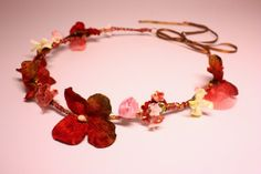 Bohemian flower crown hairband. Rustic floral by SheSellsHeart, £23.00