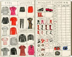 notebook #illustration  wardrobe planning! If only I had the patience to do this. It would save me so much time in the mornings