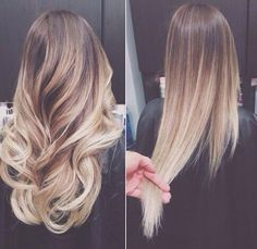 Beautiful light blonde ombre