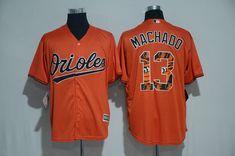 40e360a71 2017 MLB Baltimore Orioles 13 Machado Orange Fashion Edition Jerseys